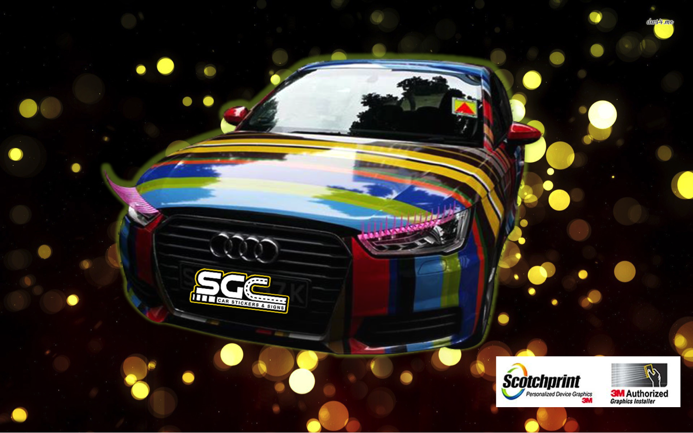 Car sticker wrap singapore - Audi Sexy Wrap